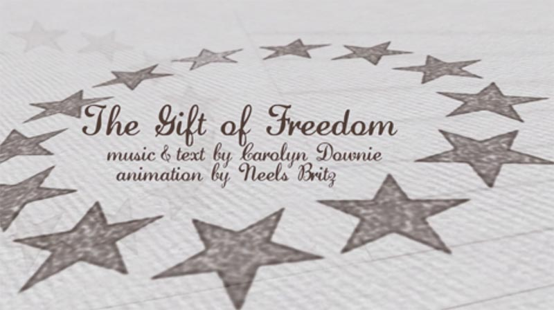 """The Gift of Freedom,"" directed and scored by Carolyn Downie and animated by Neels Britz"